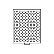 Médaillier 99 compartiments circulaires de 19,25 mm Ø, gris