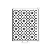 Møntboks - Grå - 99 runde inddelinger med 19 mm Ø