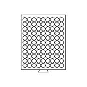 Médaillier 99 compartiments circulaires de 19 mm  Ø, gris