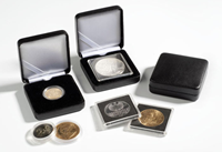 Møntetui i metal t/møntkapsler Ø 36 mm, caps29,30