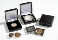 Møntetui i metal t/møntkapsler Ø 28 mm, caps21,21.5