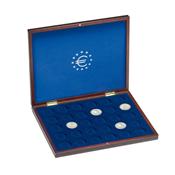 Coffret Numismatique VOLTERRA UNO de luxe, pour 30pcs commém. Allem.10€ en caps d'origine