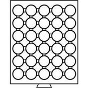 Møntboks til møntkapsler - Røgfarvet - 30 inddelinger til CAPS31