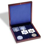 Ecrin Numismatique VOLTERRA, offrant 9 alvéoles carrées de 50x50 mm