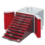 Valisette Numismatique en aluminium CARGO MB 10, pour 10 Médailliers