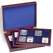 Coffret Numismatique VOLTERRA TRIO de luxe, avec de chacune 8 US-SLABS
