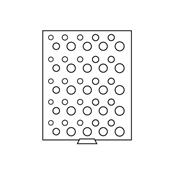 Médaillier pour 5 Séries de pcs de DM (50 pièces de monnaie) 16,5 à 29 mm Ø