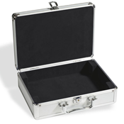 coin case for 112 coins, for 6 coin trays, empty