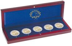 Ecrin Numismatique VOLTERRA, pour pcs commémoratives 5x 2€ *Traité de Rome* sous capsules