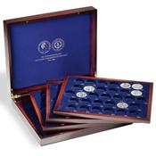 Coffret Numismatique VOLTERRA QUATTRO de luxe, pour 123 pièces commémorativ