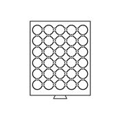 Møntboks til møntkapsler - Røgfarvet - 30 inddelinger til CAPS32