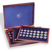 Coffret Numismatique VOLTERRA TRIO DE LUXE pour 18  ensembles de pièces Euro en capsules