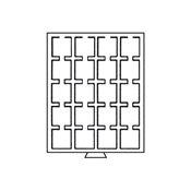 Møntbokse Til Møntkapsler - Quadrum møntkapsler - Grå