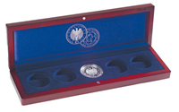 Small coin box VOLTERRA, 5x10-Euro comm. coins *World Cup 2006* in orignal capsule