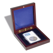 Small coin box VOLTERRA, for certified coin holders (Slabs)