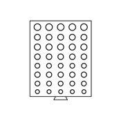 Médaillier pour 5 Séries de pièces d'Euros, gris