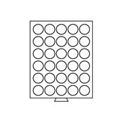 Médaillier 30 compartiments circulaires de 39 mm Ø, teinte fumée