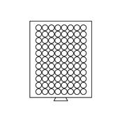 Médaillier 88 compartiments circulaires de 21,5 mm  Ø, teinte fumée