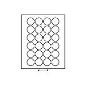 Médaillier 24 compartiments circulaires pour 41 mm  Ø, gris