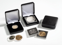 Ecrin Numismatique NOBILE pour pièces jusqu'à Ø 32  mm, noir