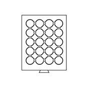 Médaillier 20 compartiments pour CAPS 36, gris