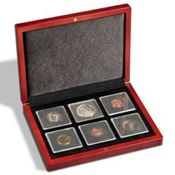 Mønt-etuier Volterra til 6 Quadrum møntkapsler