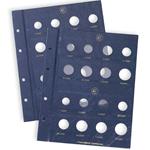 Feuilles Numismatiques VISTA, *Euro* neutres pour 2 Séries par Feuille