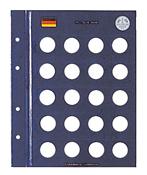 Feuilles Numismatiques VISTA, pour pièces de 1 DM
