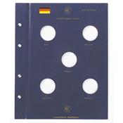 Feuilles Numismatiques VISTA, pour 5 pièces commémoratives allemandes de 10 Euros