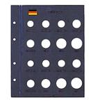Feuilles Numismatiques VISTA, pour pièces de 1 Pfennig à 5 DM