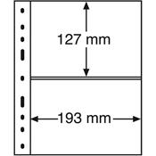 Pochettes plastiques OPTIMA XL 2 compartiments, noir