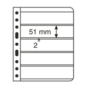 Vario 插卡,5条条形,透明,每包5页