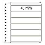 LEUCHTTURM Feuilles G, 6 compartiments, noir
