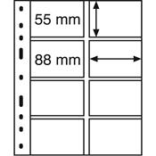 Pochettes plastiques OPTIMA, 4 compartiments, pour  Cartes téléphoniques, tr