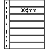Pochettes plastiques OPTIMA, 7 compartiments, noir