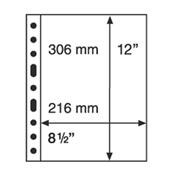 5 Pochettes plastiques GRANDE, 1 compartiment, transparent, de Leuchtturm