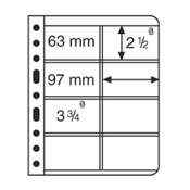 Vario 插卡,4条纵向条形,透明,每包5张