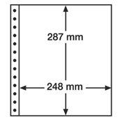 LEUCHTTURM Feuilles R, 1 compartiment, transparent