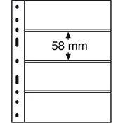 Pochettes plastiques OPTIMA, 4 compartiments, transparent