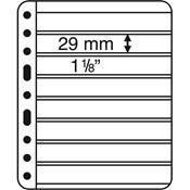 Pochettes plastiques VARIO PLUS, extra rigides, 8 compartiments, noir