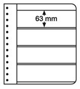 LEUCHTTURM Feuilles G, 4 compartiments, blanc