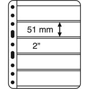 Pochettes plastiques VARIO PLUS, extra rigides, 5 compartiments, noir