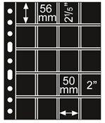 GRANDE lomme til Flødekapsler - Ø 50 x 56 mm - Sort folie, 5 stk.