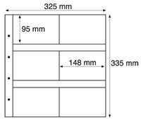 MAXIMUM sheets - White -  For old postcards (95 x 145 mm) -  Pack of 5