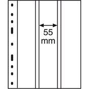 Pochettes plastiques OPTIMA, 3 compartiments, verticales, transparent