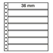 LEUCHTTURM Feuilles R, 7 compartiments, noir