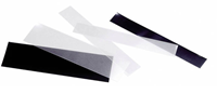 Mounts in strips - 70 strips in varying sizes -  Black film - 200 g
