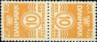 Denmark tetebeche AFA no. 3 mint