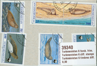 Turkménistan 6 timbres diff.