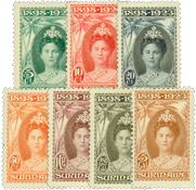Suriname 1923 - Nr. 104-110 - Ongebruikt